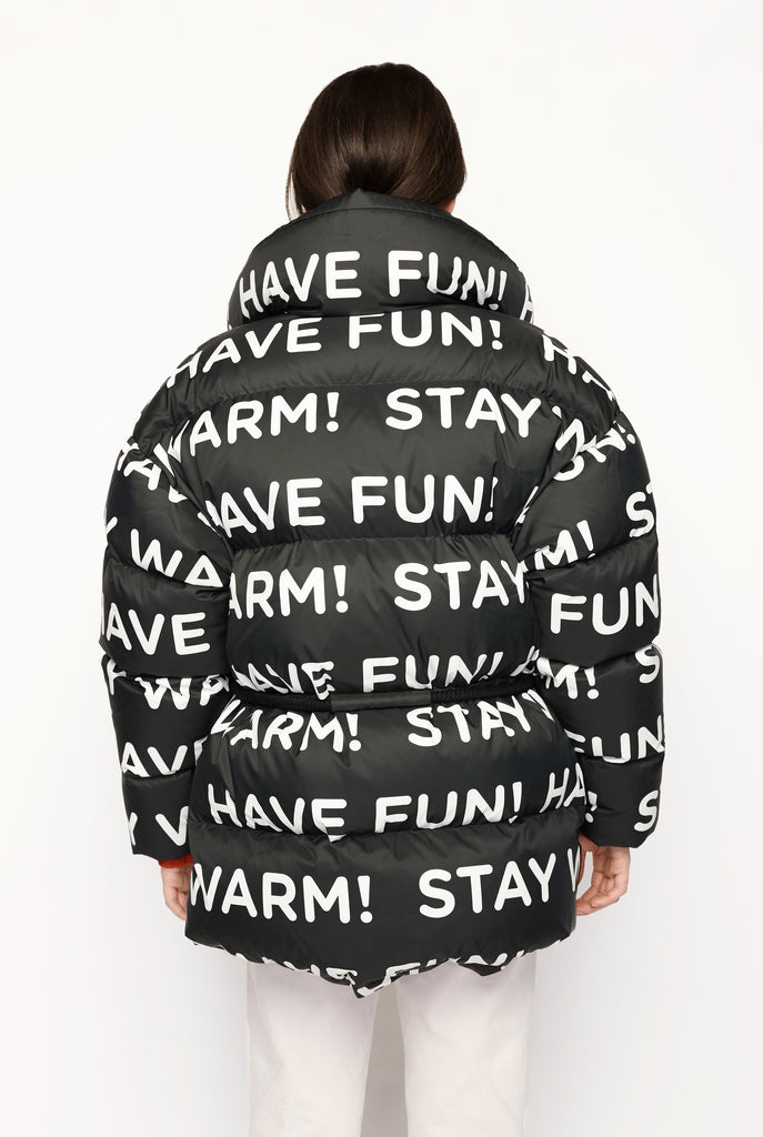 Typography Puffer Jacket