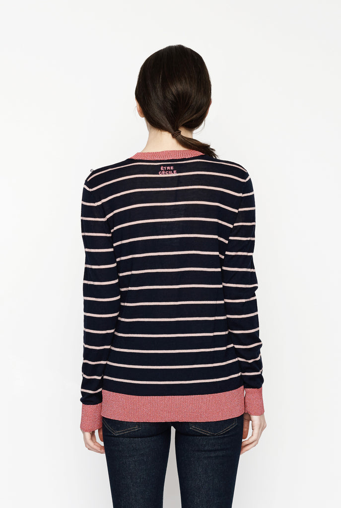 Etre Cecile - Frenchie Stripe Boyfriend Knitted Crew