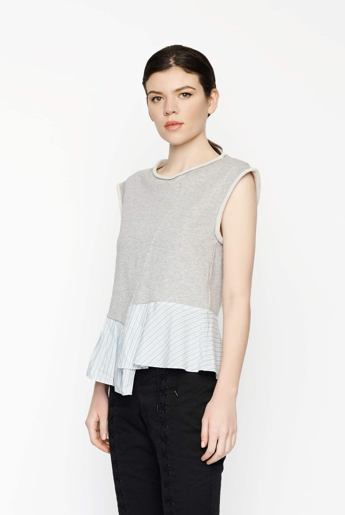 Big Fashion Sale 3.1 Phillip Lim French Terry Top with Ruffle Hem