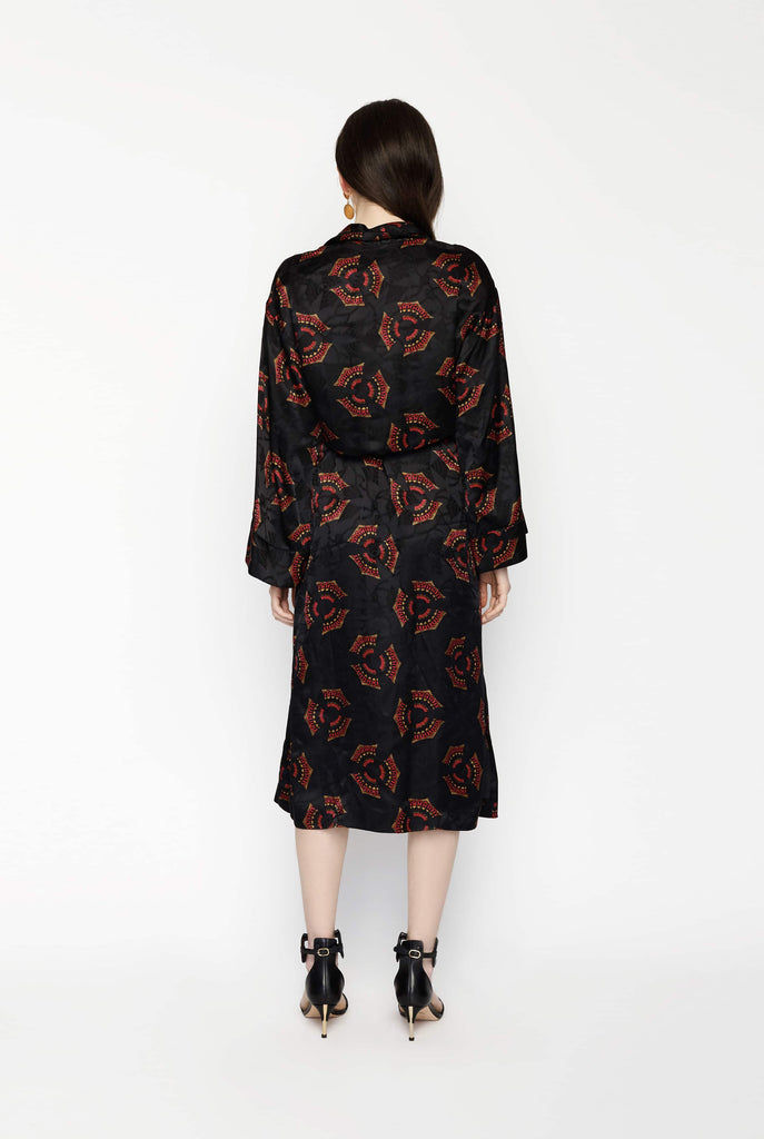 Big Fashion Sale A.L.C York Jacket Black and Red Print