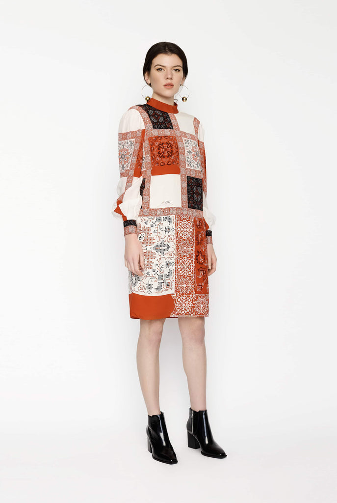 Big Fashion Sale Alexander McQueen Patchwork Print Dress