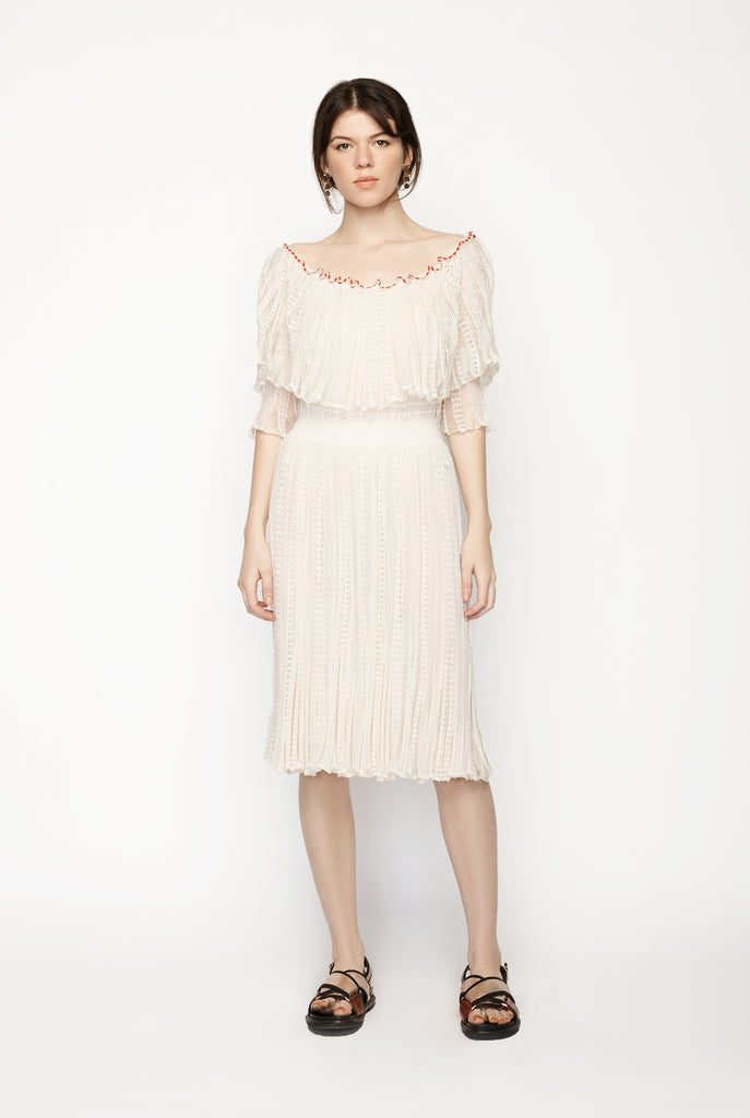 Alexander Mcqueen - Off The Shoulder Puff Sleeve
