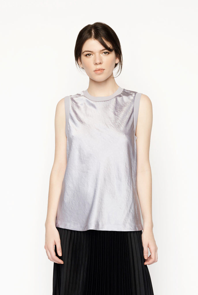T by Alexander Wang - Wash Go Woven Sleeveless Top