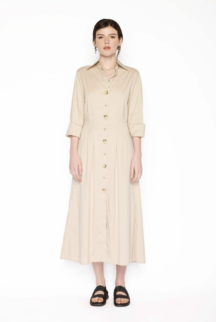 Big Fashion Sale Anna Quan Arlo Shirt Dress Tan