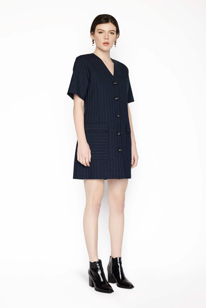 Big Fashion Sale Anna Quan Portia Dress Chalk Stripe