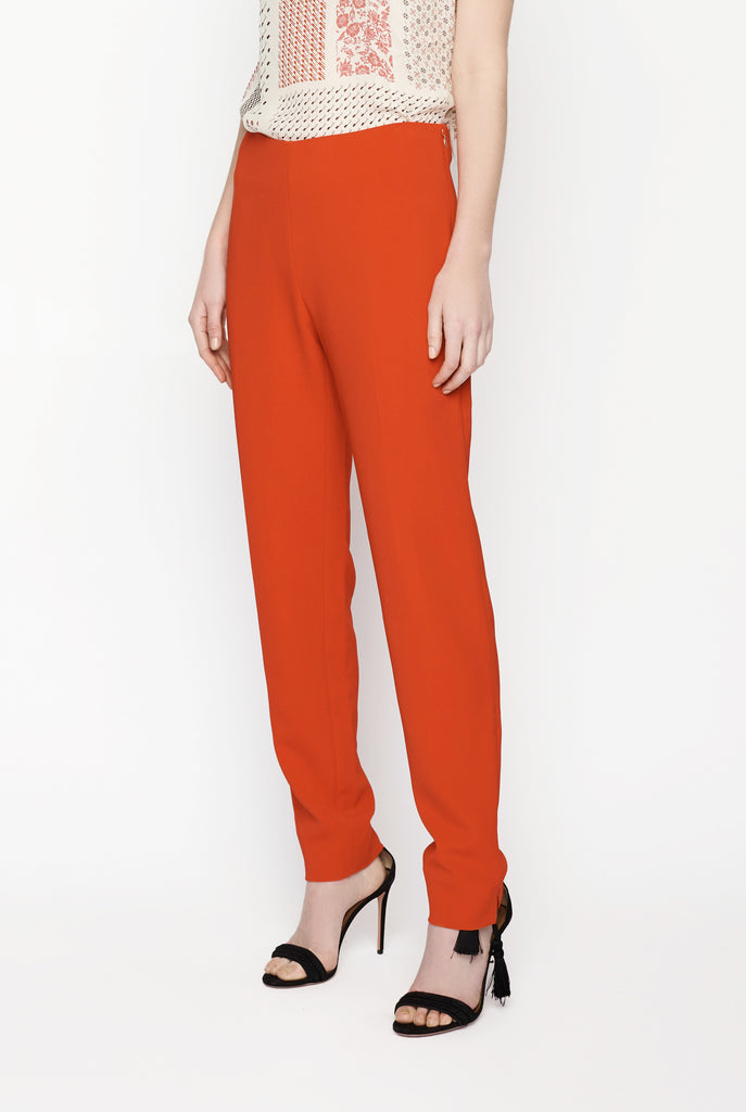 Big Fashion Sale Antonio Berardi Mid-Rise Slim Leg Pant Red