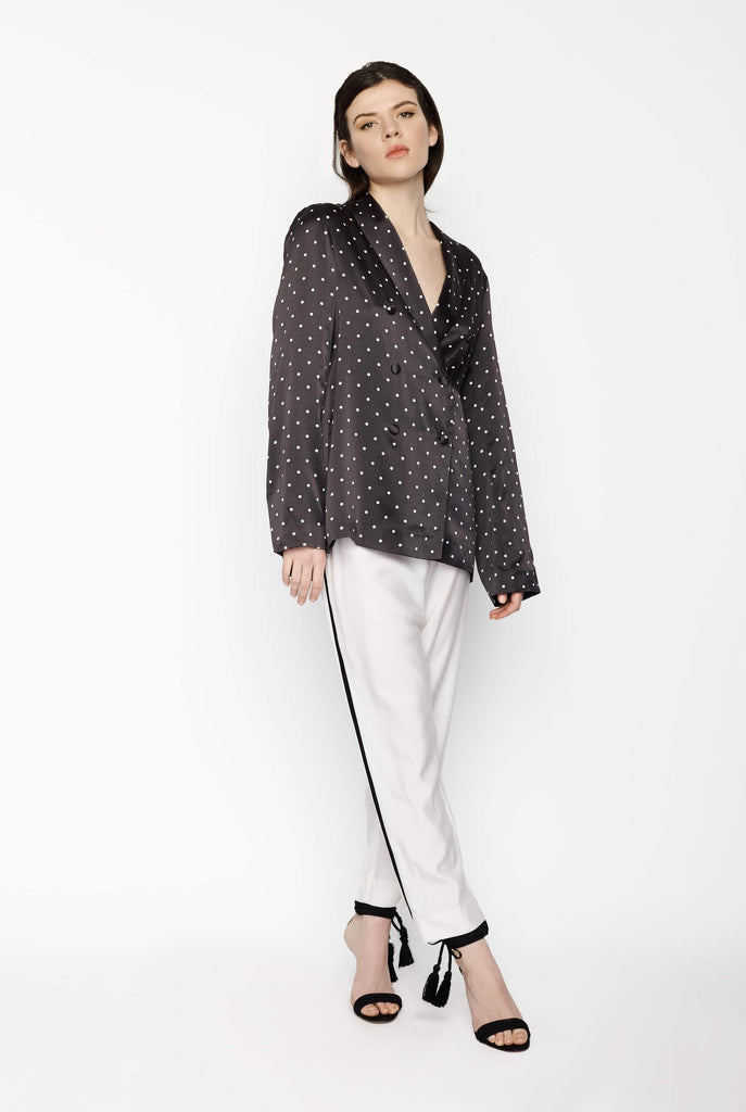 Big Fashion Sale Asceno Blazer in Mini Polka Dot