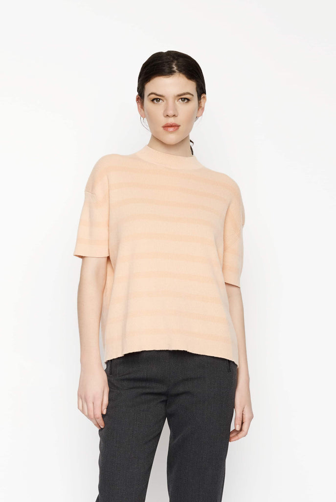 Big Fashion Sale Barrie Stripe Cashmere Knit Orange