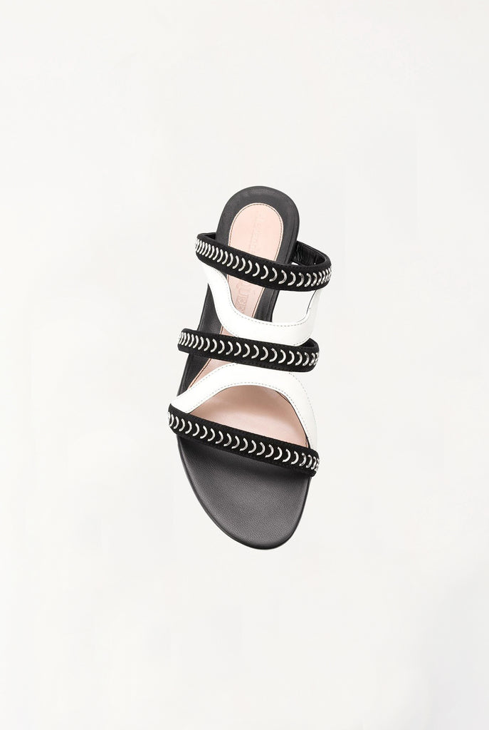 Alexander Mcqueen - Black & White Caged Flat Sandals