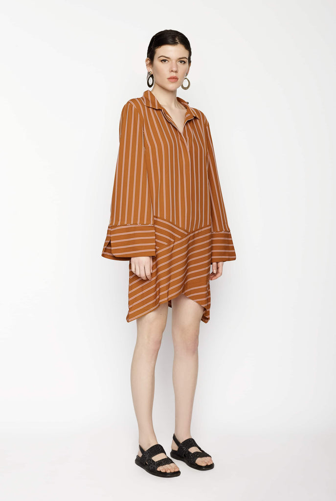 Big Fashion Sale Carver Selene Shirt Dress Cinnamon Stripe