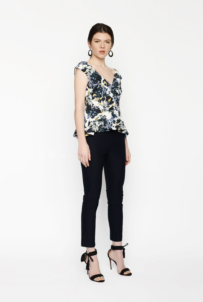 Big Fashion Sale Derek Lam 10 Crosby Back Zip Slim Pant in Midnight