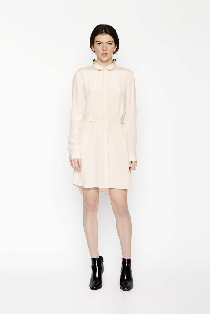 Big Fashion Sale Dion Lee Harness Back Silk Shirt Dress