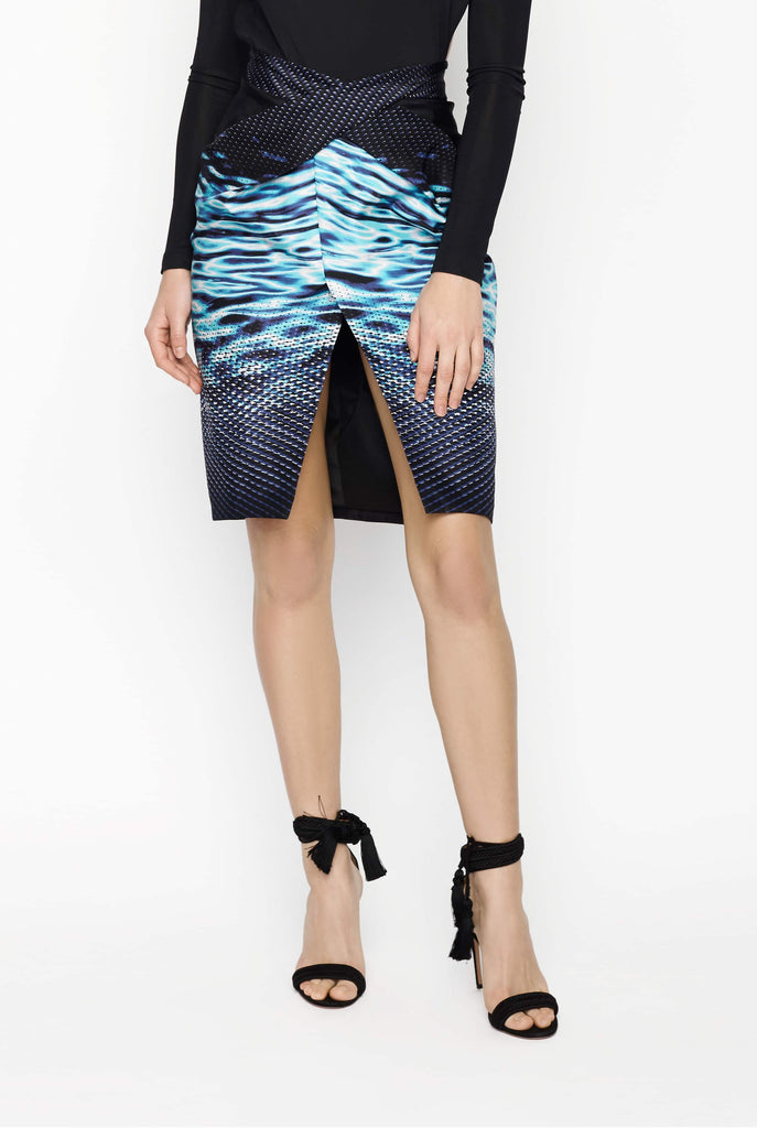 Big Fashion Sale Dion Lee Twist Water Print Skirt