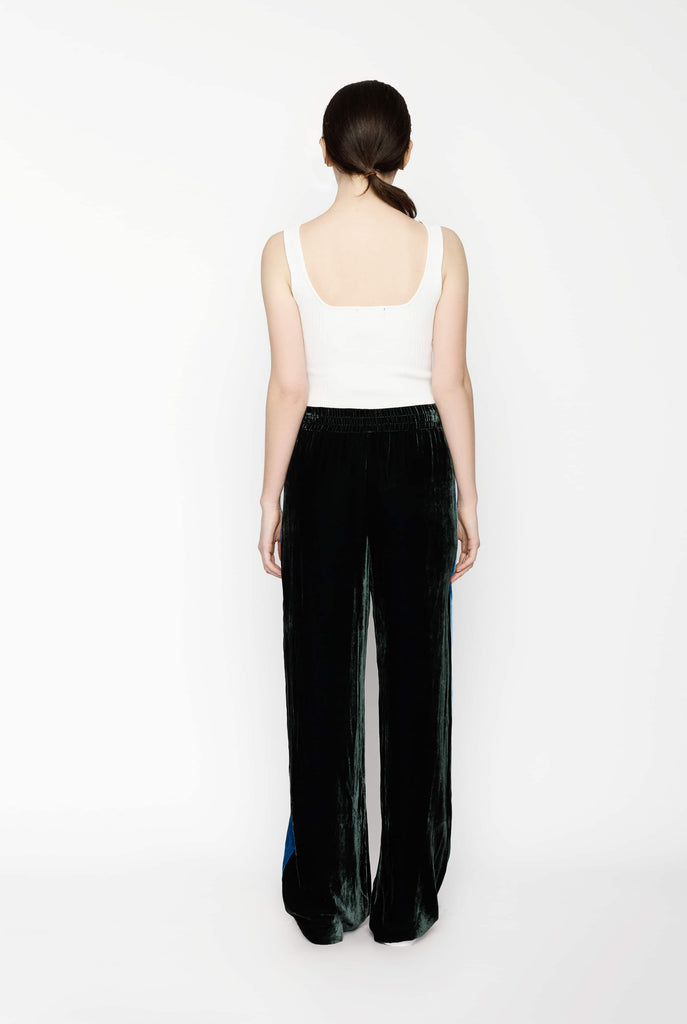 Big Fashion Sale Dion Lee Velvet Pants Bottle Green