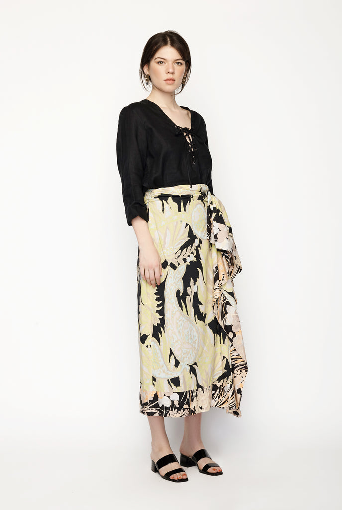 Dries Van Noten - Floral Printed Cotton Midi Skirt