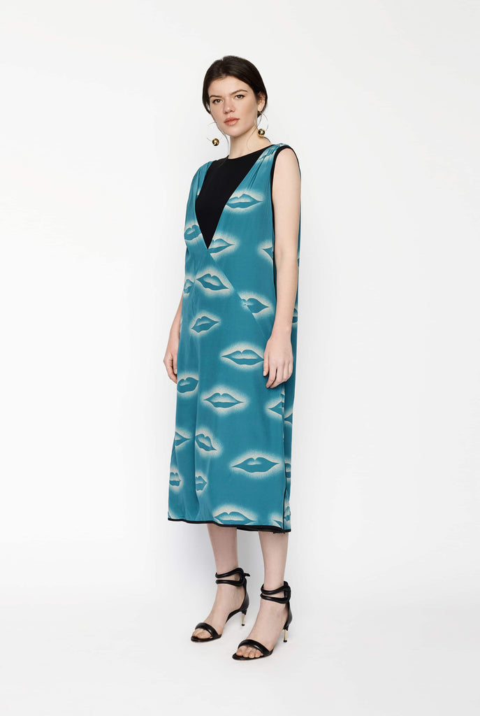 Big Fashion Sale Dries Van Noten Lip Print Dress