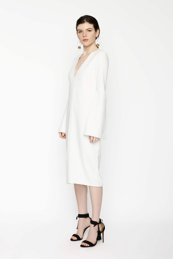 Big Fashion Sale Ellery White Long Bell Sleeved Dress White