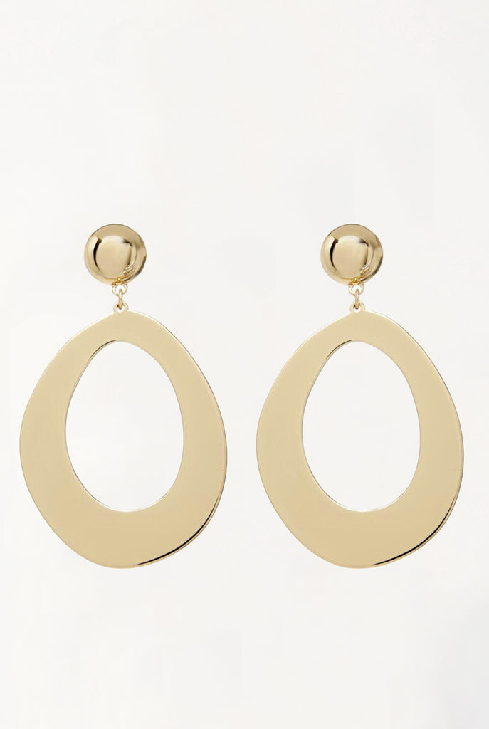 Elliptical Statement Hoops - Gold