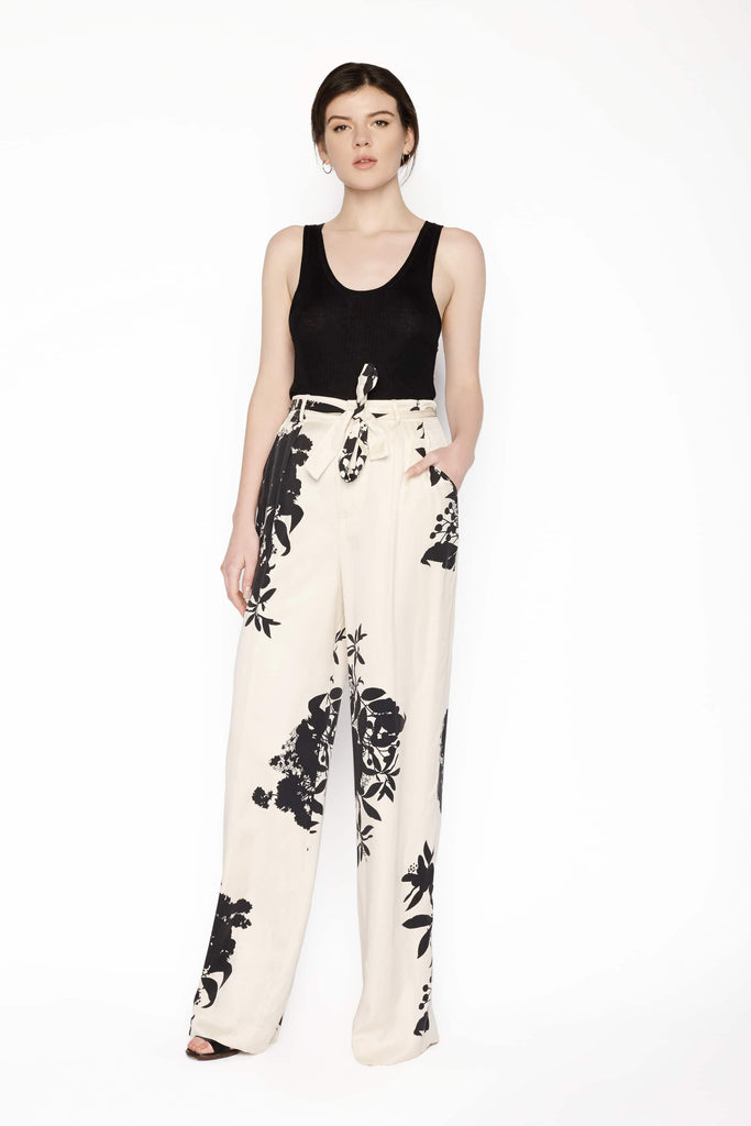 Big Fashion Sale Equipment Evonne Wide Leg Silk Pant Floral Print