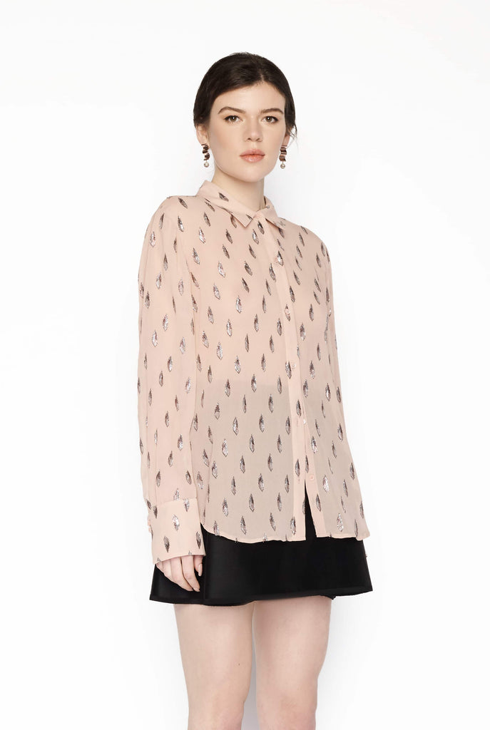 Big Fashion Sale Equiptment Sedienne Silk Shirt Misty Rose