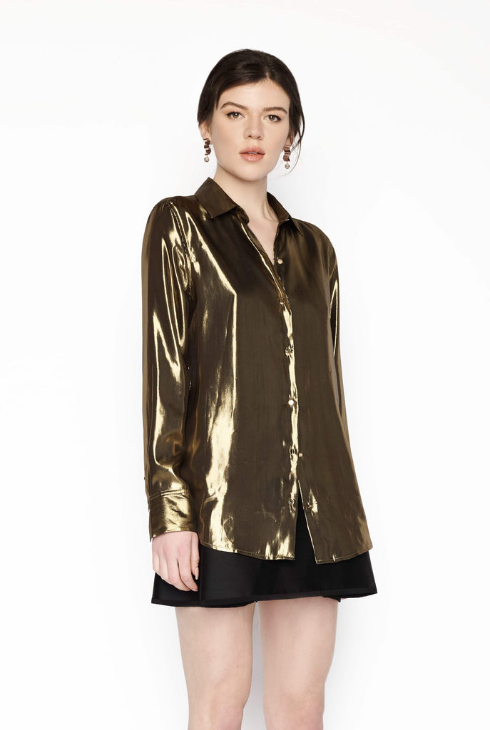 Big Fashion Sale Equiptment Shirt Burnel Metallic Gold