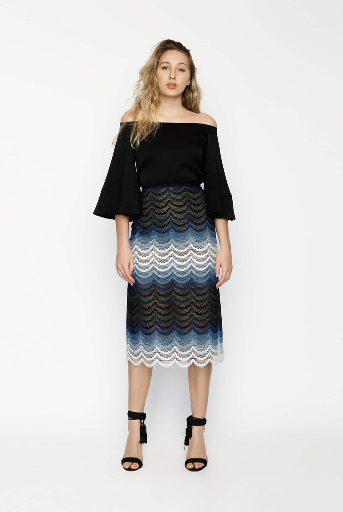 Big Fashion Sale Erdem Lace Blue Skirt