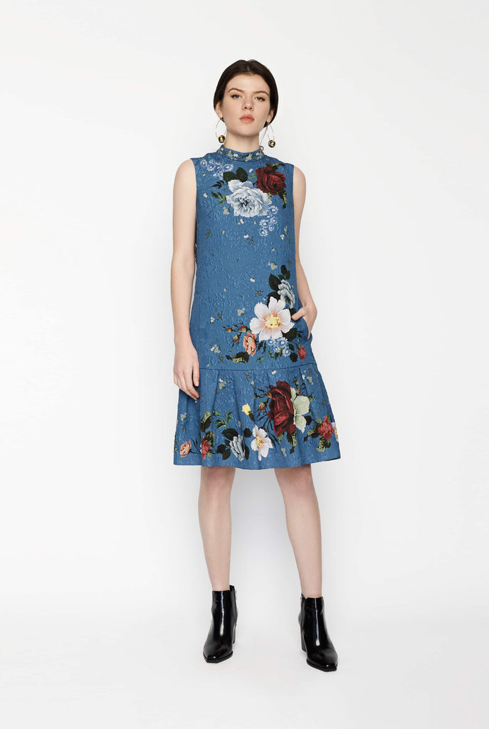 Big Fashion Sale Erdem Nena Dress Blue Floral