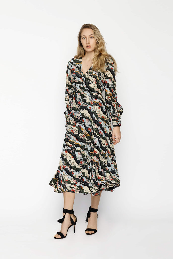 Big Fashion Sale Erdem Osiris silk crepe de Chine dress