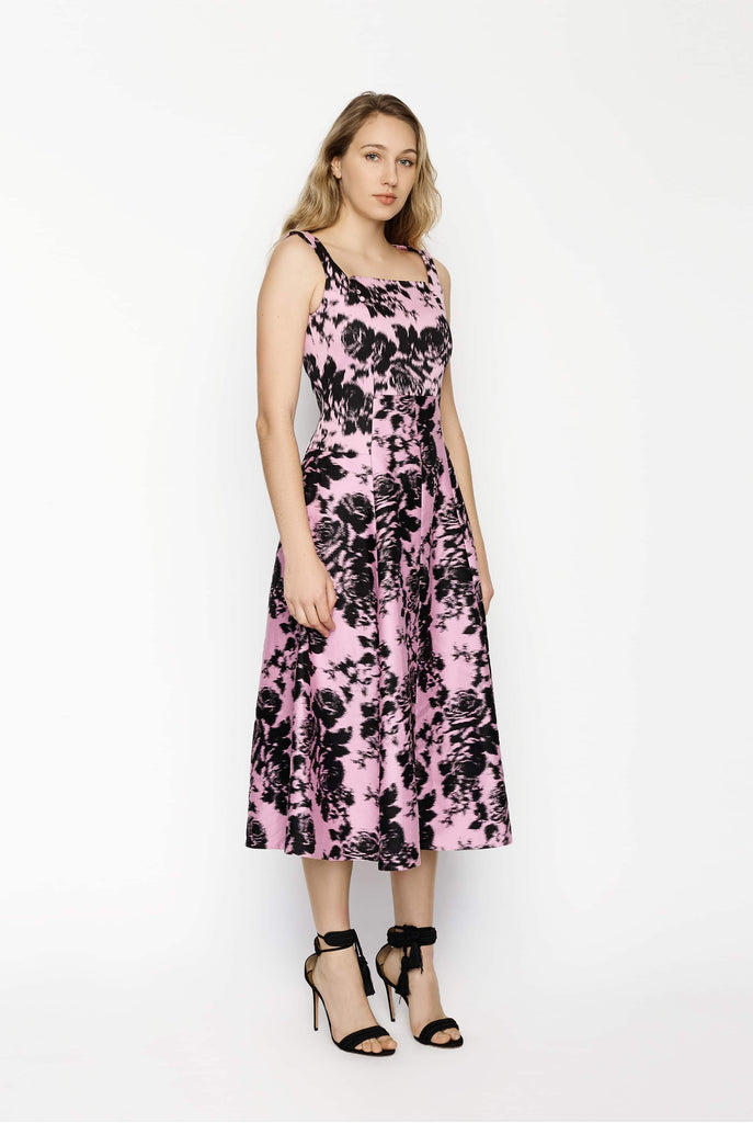 Big Fashion Sale Erdem Polly Pink Dress Black Floral