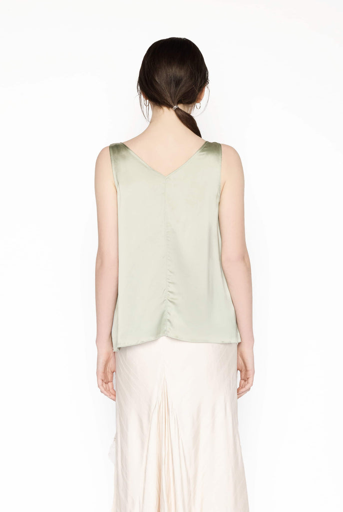 Big Fashion Sale Forte Forte Silk Tank Top Sage