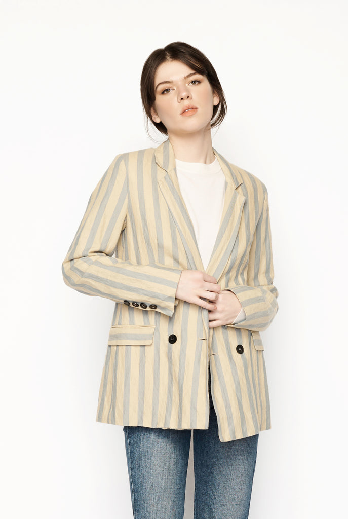 Forte Forte - Stripe Wool & Cotton Jacket