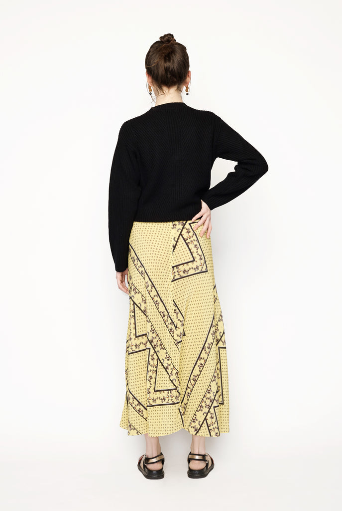 Ganni - Helmlock Silk Maxi Skirt