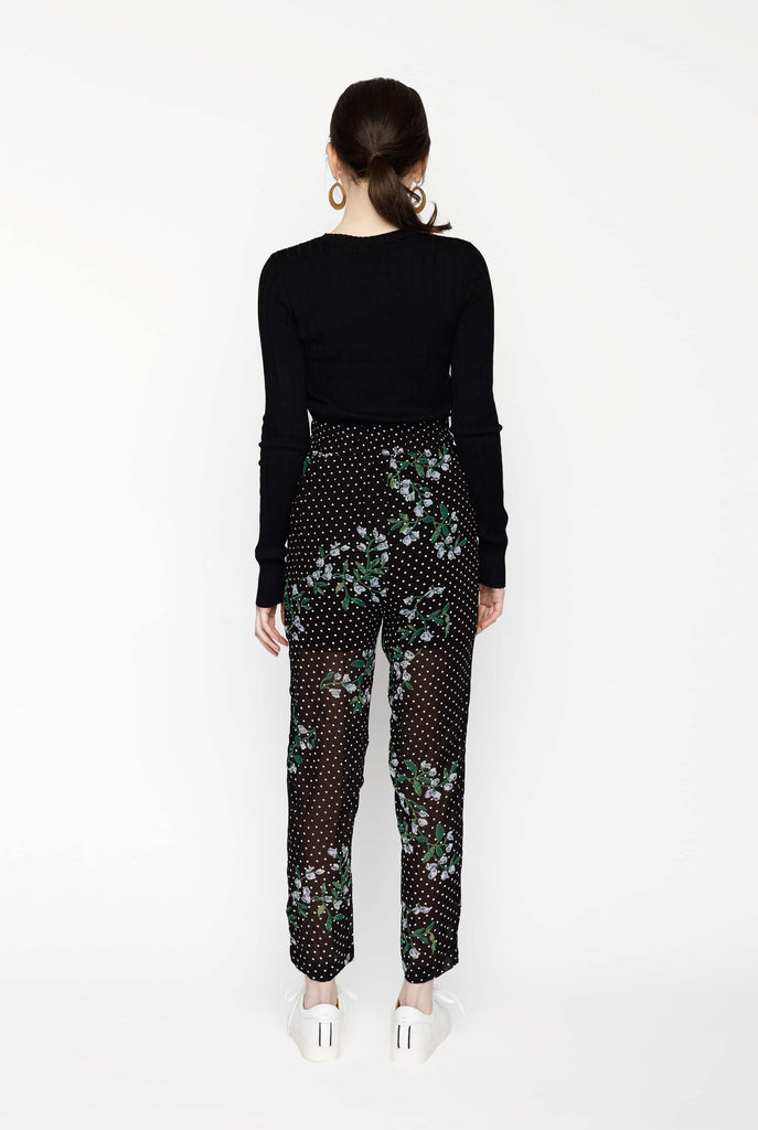 Big Fashion Sale Ganni Rometty Georgette Pant Black