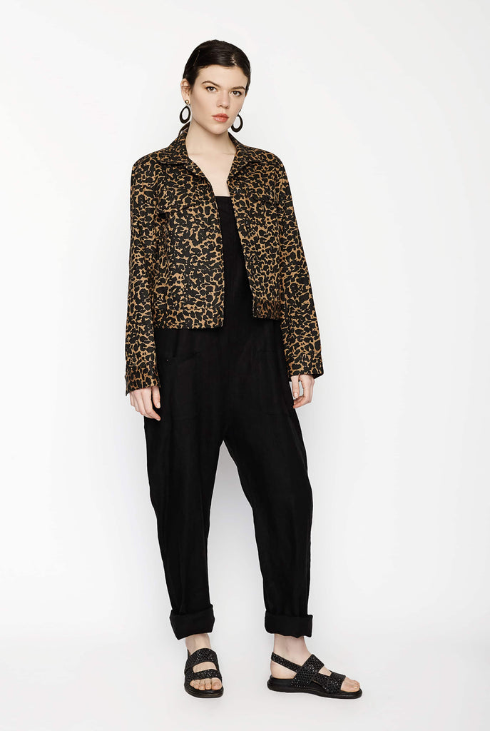 Big Fashion Sale Gary Bigeni Biker Jacket Leopard
