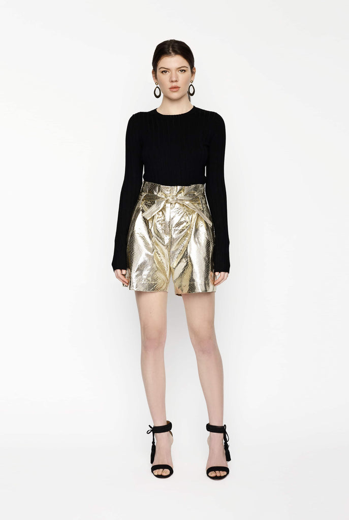 Big Fashion Sale Gary Bigeni Paper bag shorts Gold