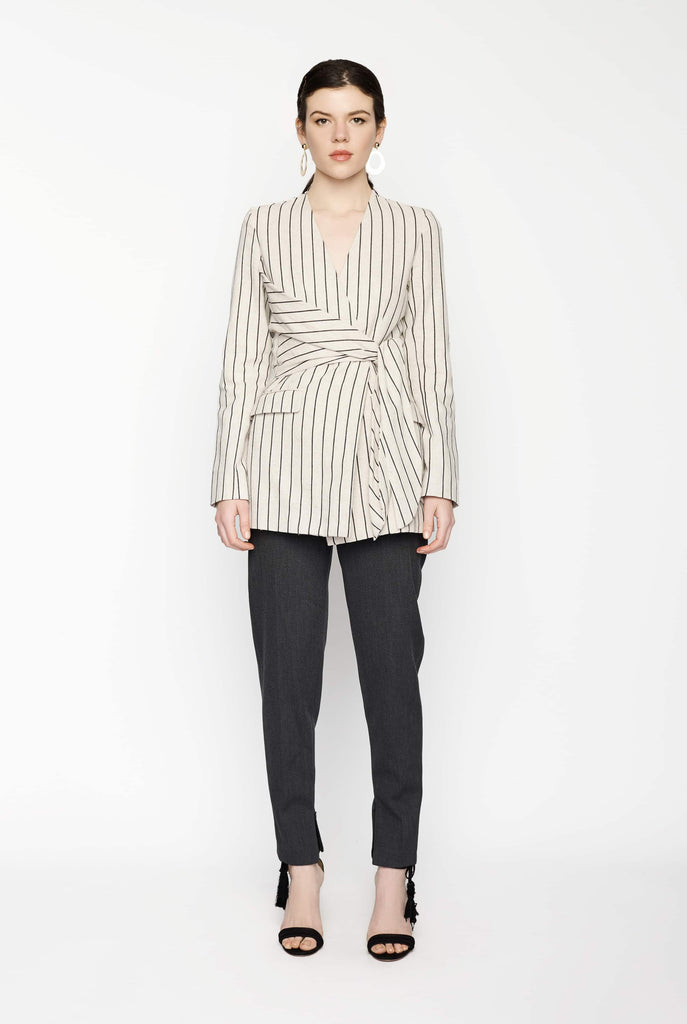 Big Fashion Sale Gary Bigeni Striped Wrap Jacket