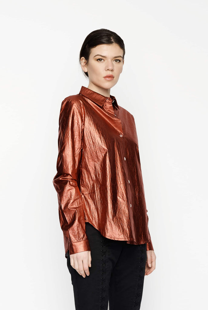 Big Fashion Sale Gary Bigeni Tianna Top Red Metallic