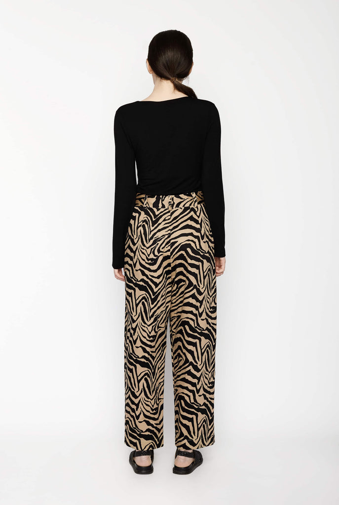 Big Fashion Sale Gary Bigeni Wide leg Zebra Print Pant