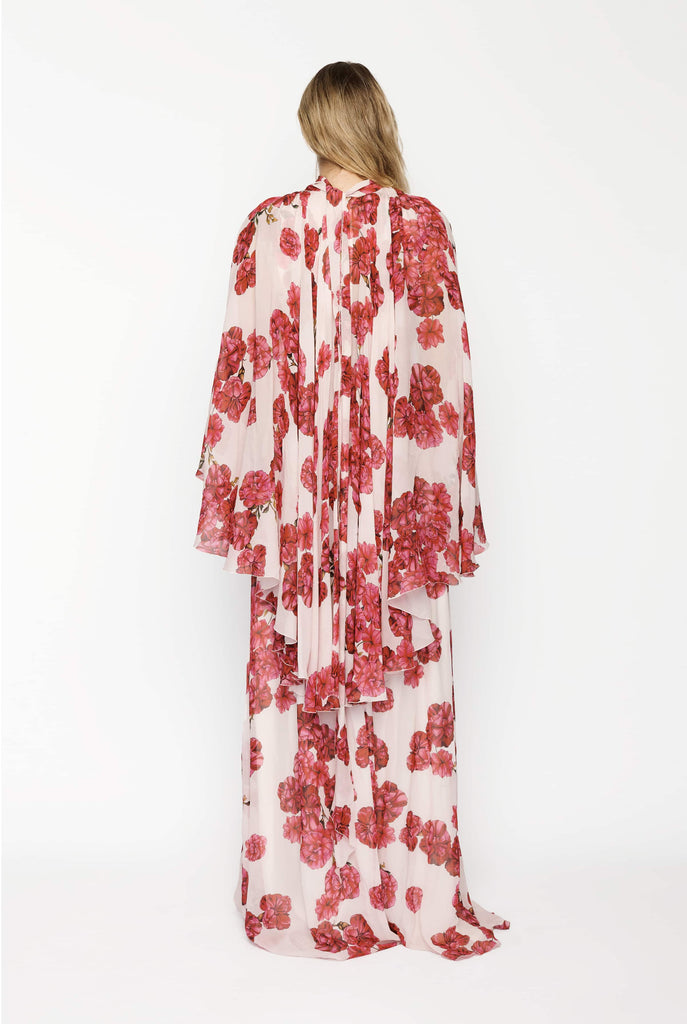 Big Fashion Sale Giambattista Valli Long Sleeve Floor Length Rose Gown