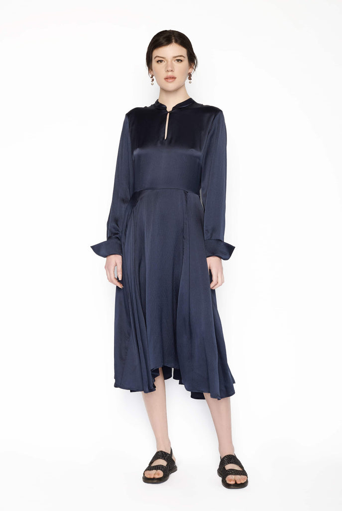 Big Fashion Sale Heartmade Navy Silk Dress