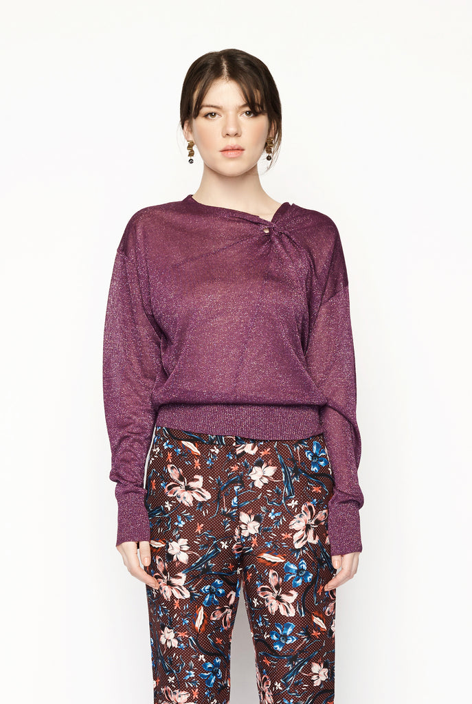 Isabel Marant - Lurex Knit Twist Sweater