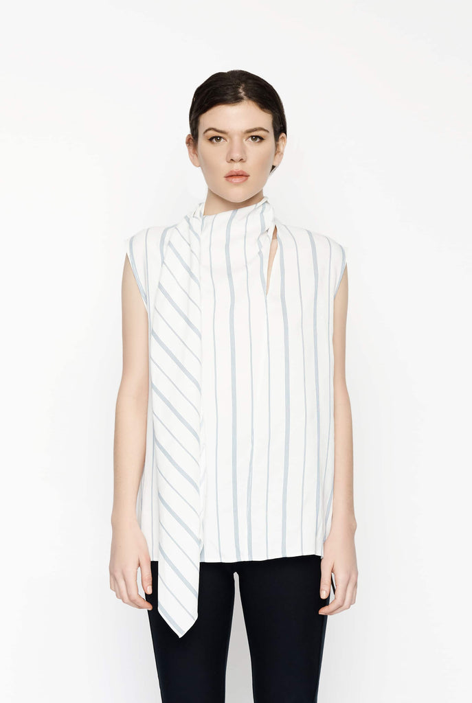 Big Fashion Sale Joseph Birley Top Blue White Stripe