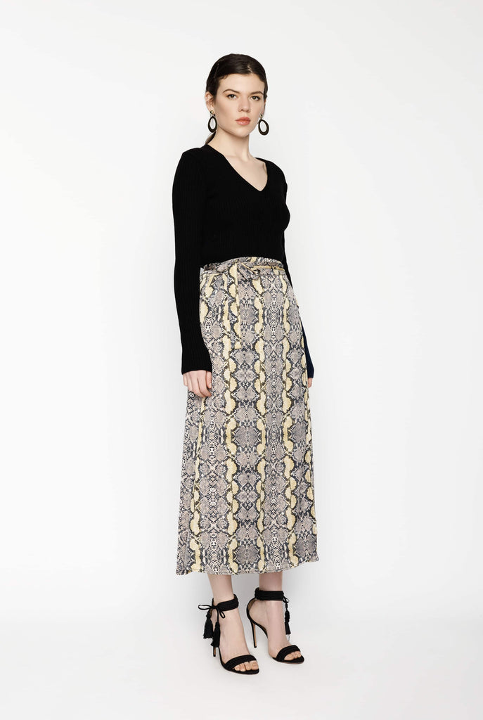 Big Fashion Sale Just Naomi Wrap Skirt Golden Sun Snake