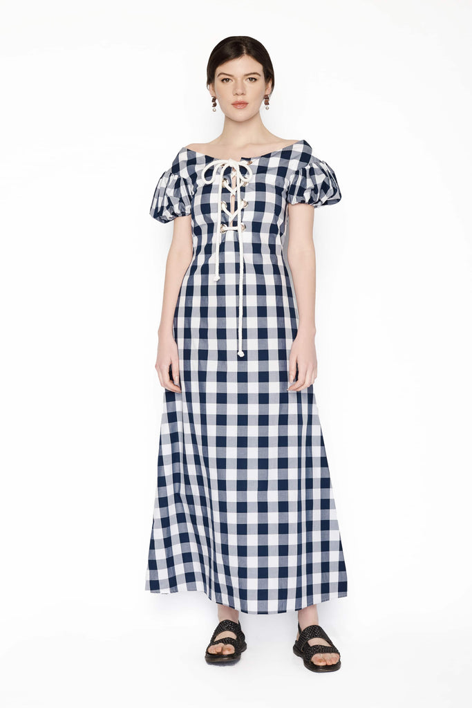 Big Fashion Sale Karla Spectic Mickee Dress Navy Gingham