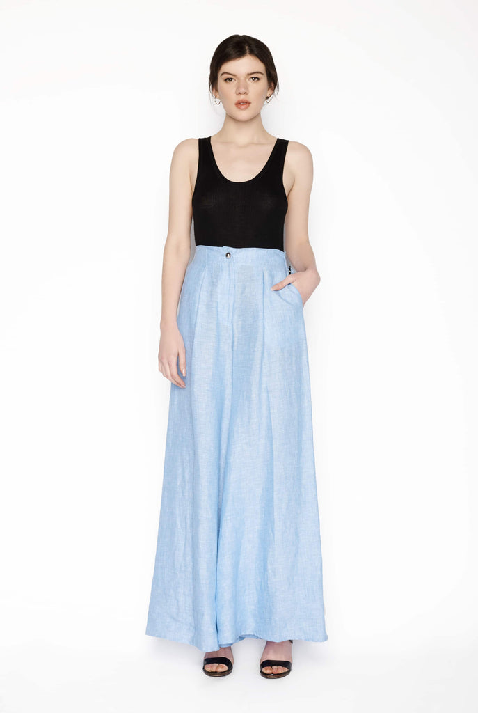 Big Fashion Sale Karla Spetic Wide Leg Blue Pant
