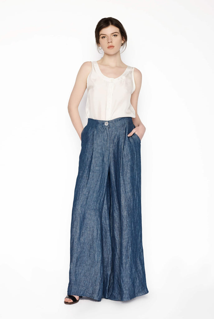 Big Fashion Sale Karla Spetic Wide Leg Chambray Pant