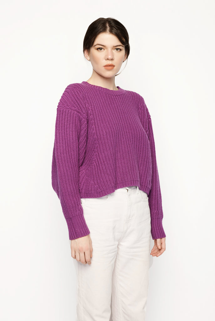 Lou Lou Studio - Vivara Batwing Sweater Purple