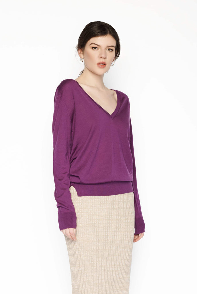 Big Fashion Sale Lou Lou Studio Barettini Classive V-Neck Purple