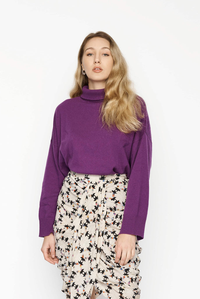 Big Fashion Sale Loulou Studio Murano Cashmere Turtleneck Purple
