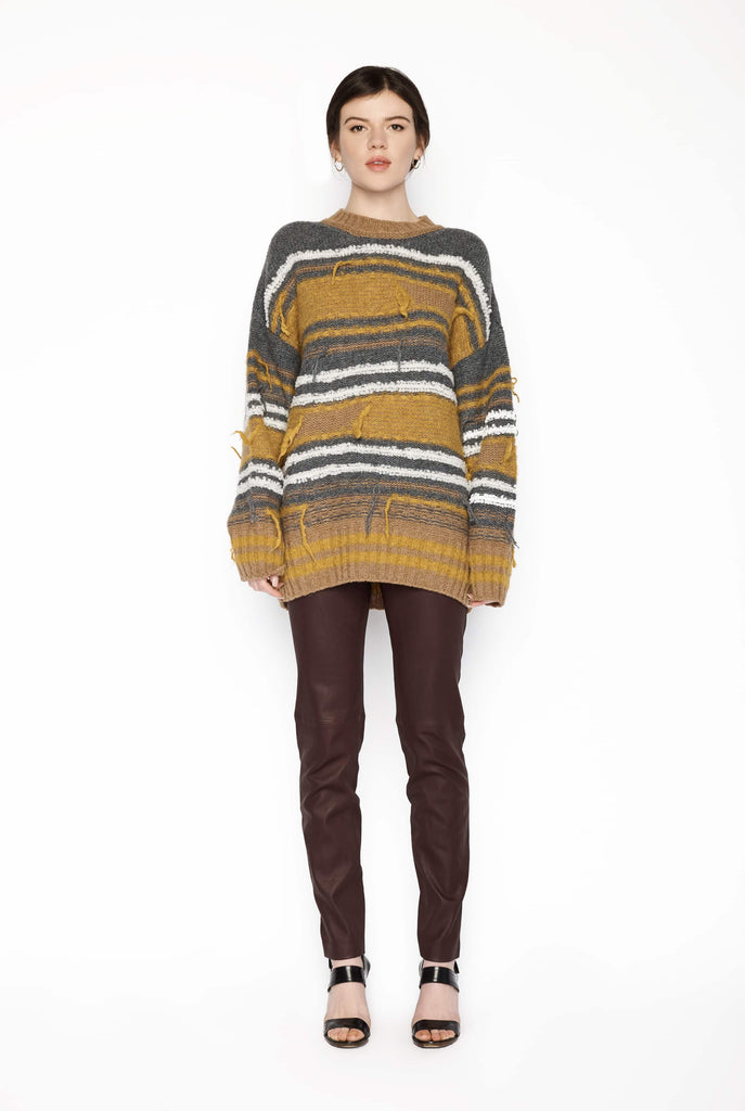 Big Fashion Sale M Missoni Oversized Sweater Mustard Stripe